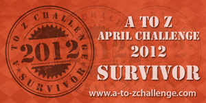 Badge for completing A to Z Blog challenge
