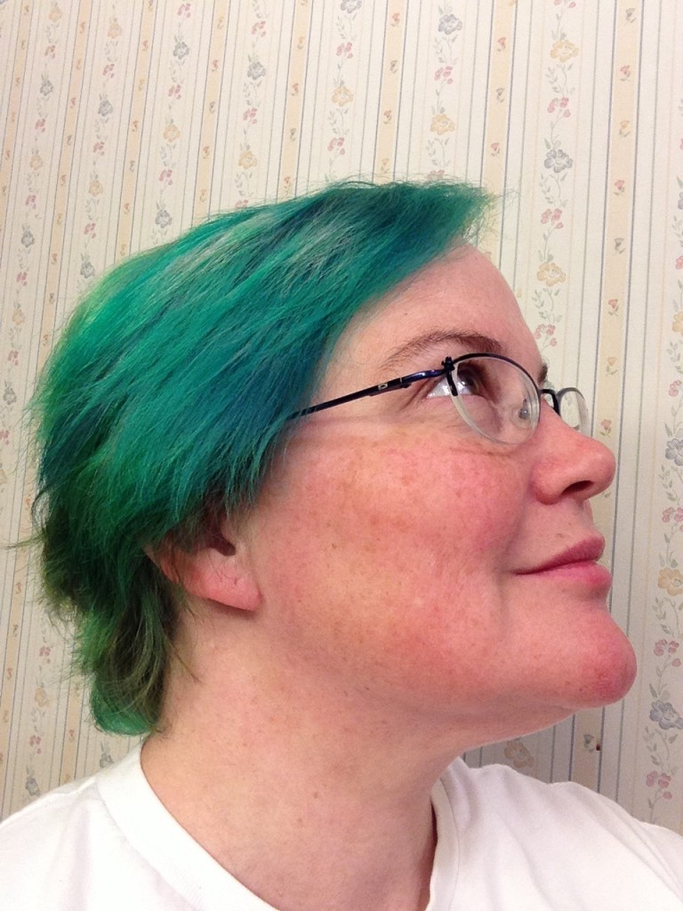me with green hair