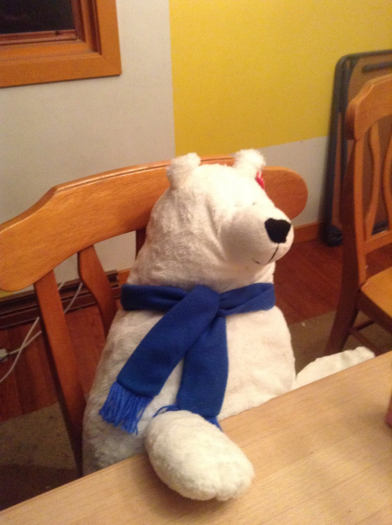 stuffed polar bear