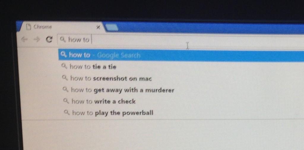 Google search autofill
