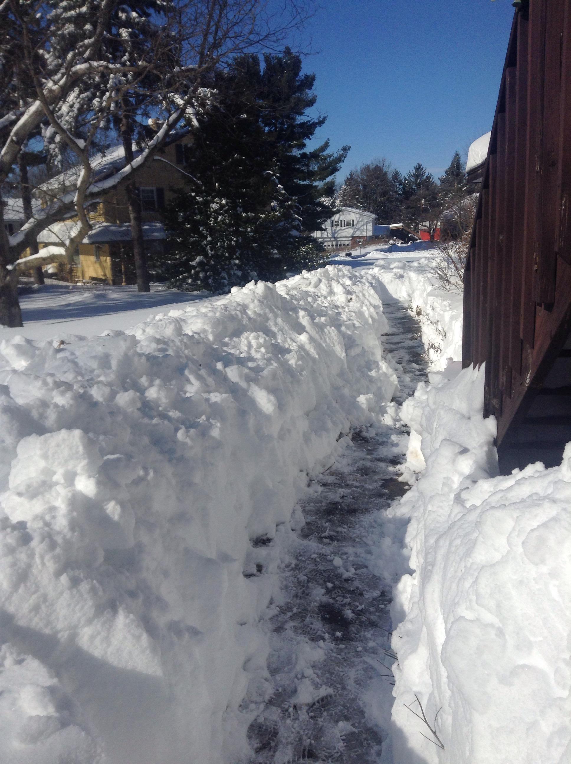 shoveled walkway