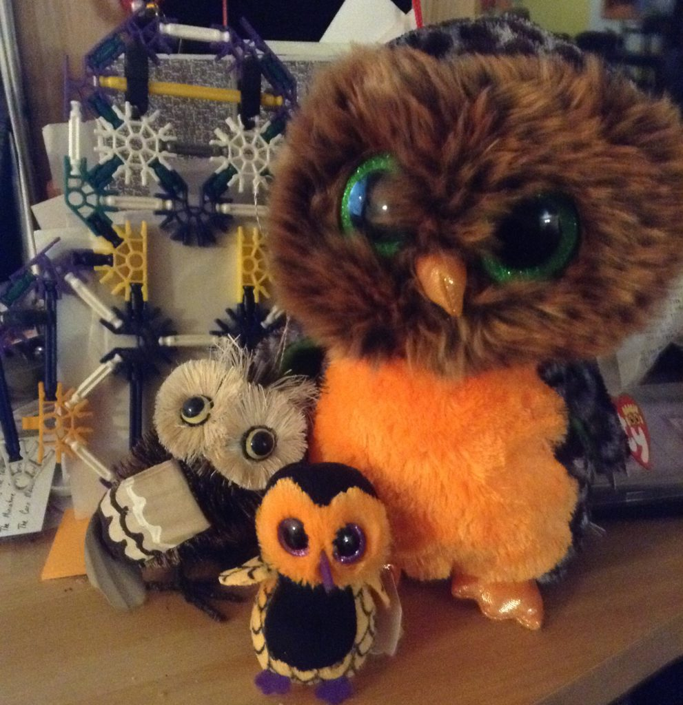 group of owl figures