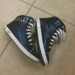 blue high tops