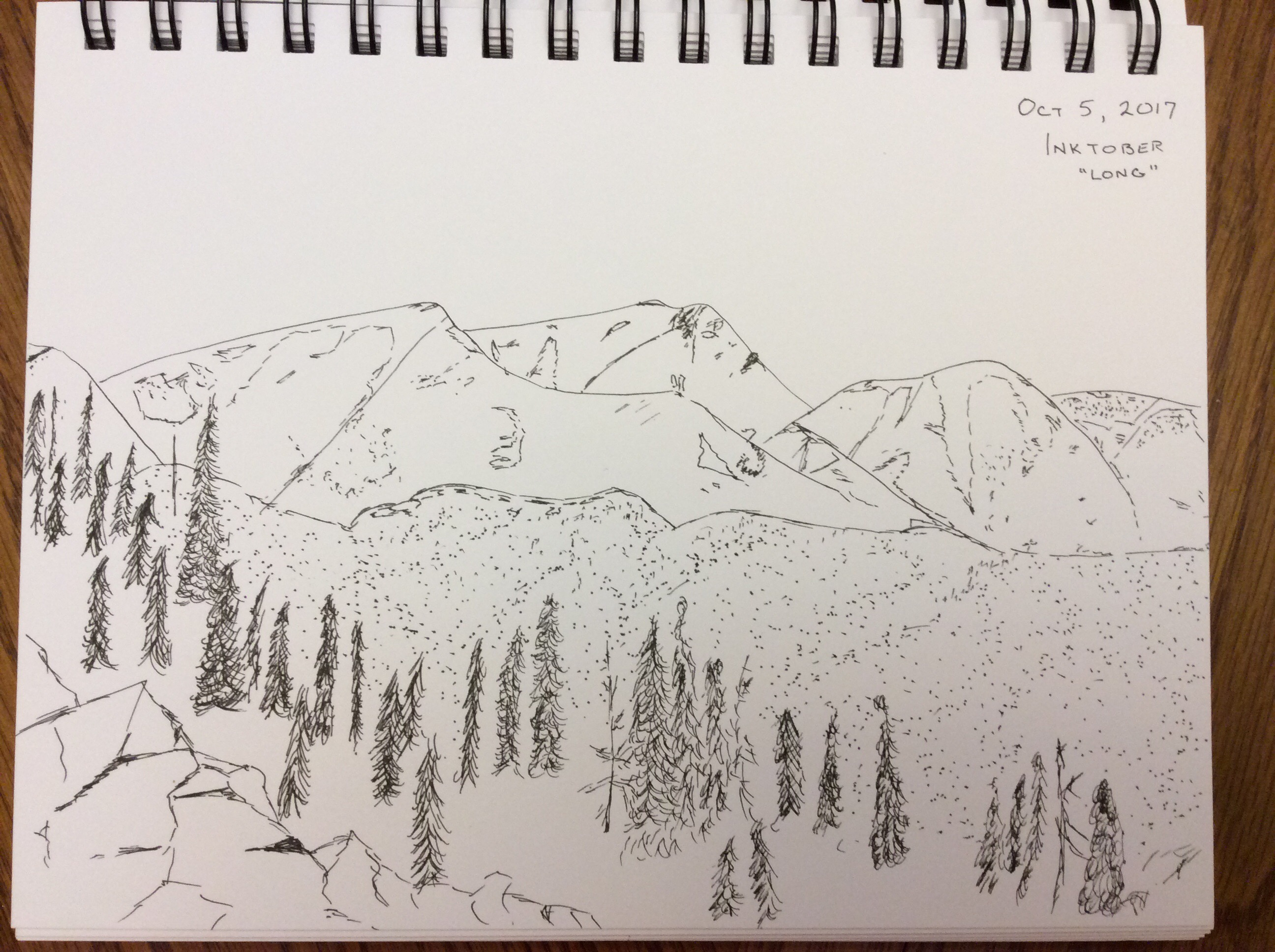 mountain sketch