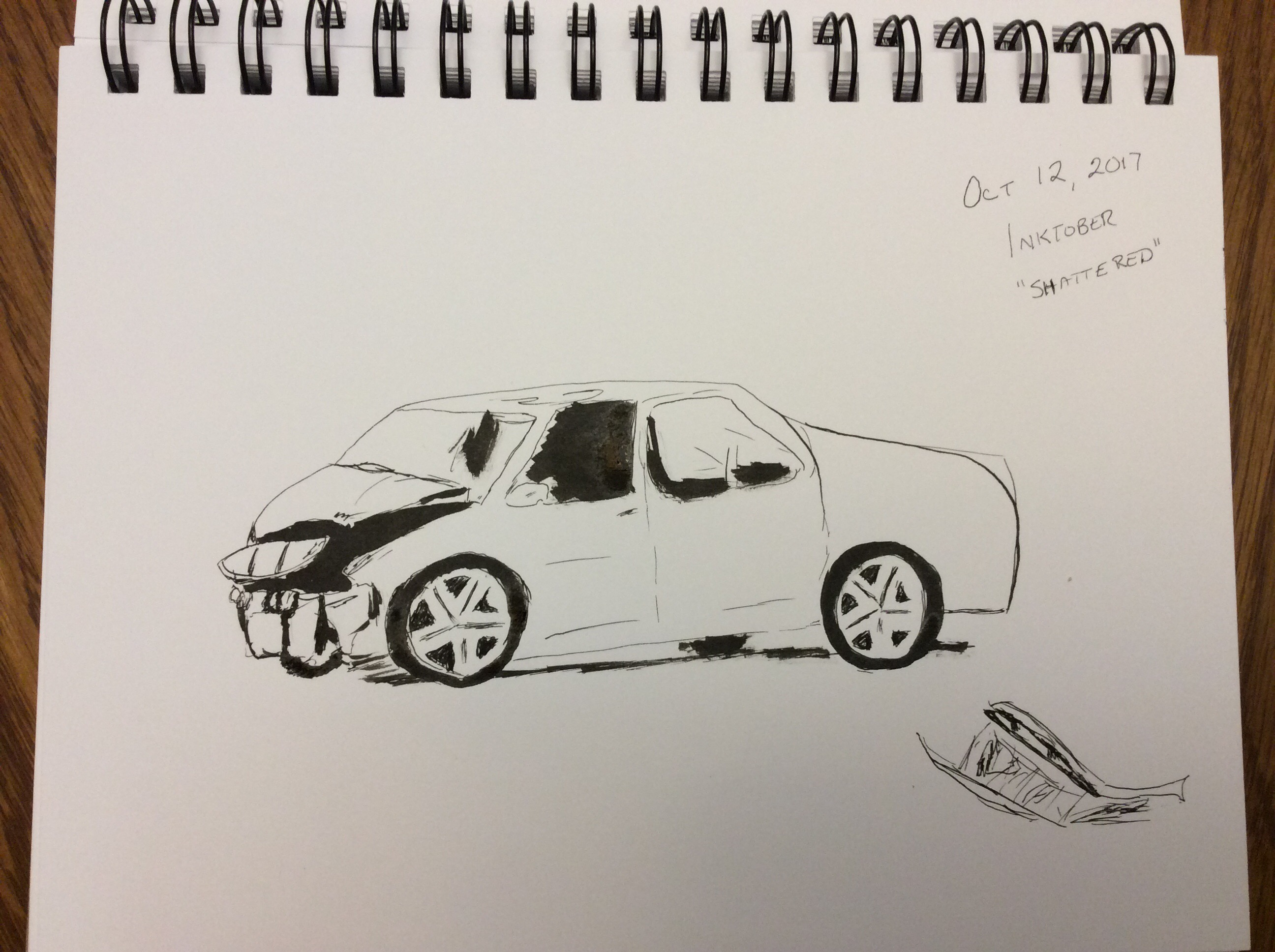 drawing of car accident