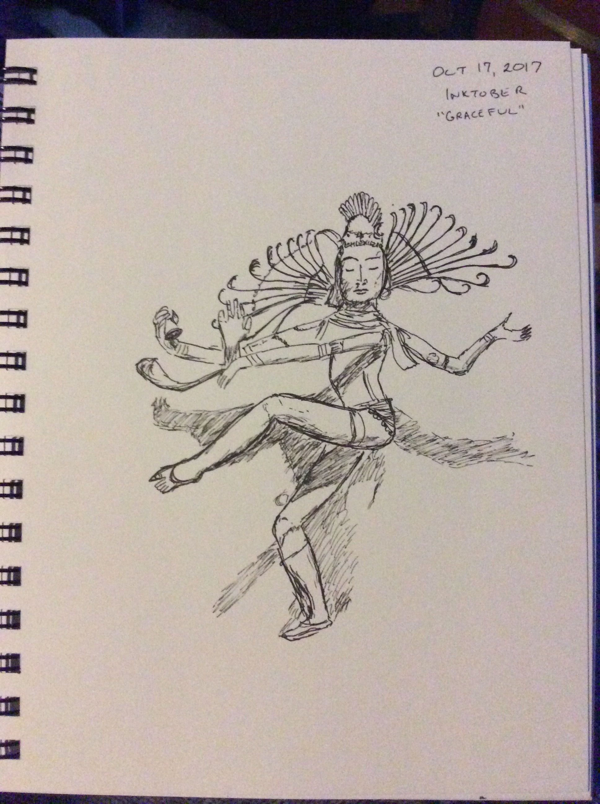 drawing of dancer
