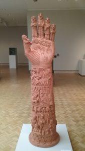 terra cotta sculpture of hand