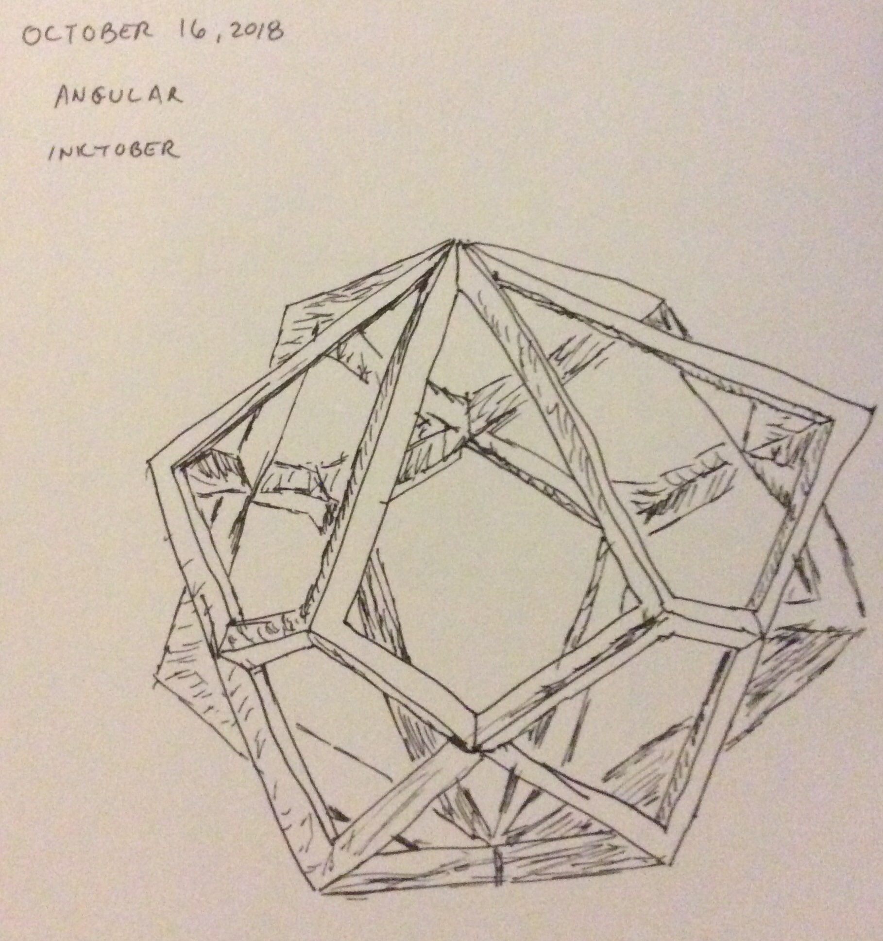 Drawing of a geometric figure